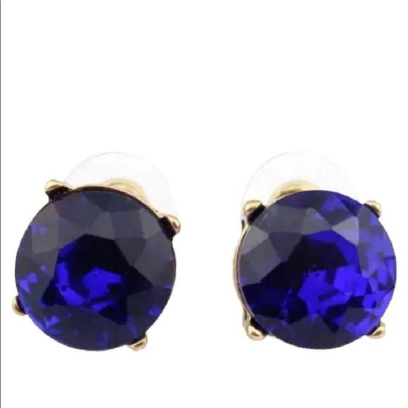 Kate Spade Jewelry Gumdrop Stud Earrings Sapphire Blue Poshmark